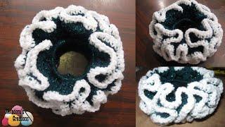 getlinkyoutube.com-Double Crochet Scrunchie - Crochet Tutorial