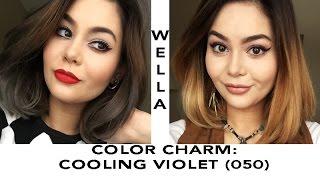 getlinkyoutube.com-WELLA Cooling Violet on Yellow Hair (Tutorial)