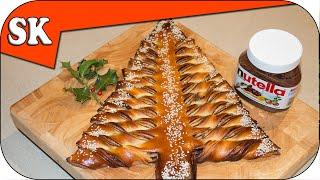 getlinkyoutube.com-NUTELLA CHRISTMAS TREE – Tear and Share Bread