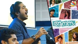 getlinkyoutube.com-Vineeth Srinivasan sings Mohanlal's Naran Song in Aanandam Promotion