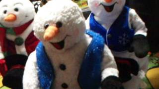 getlinkyoutube.com-Gemmy Animated Spinning Snowflake Snowmen (Three Versions)