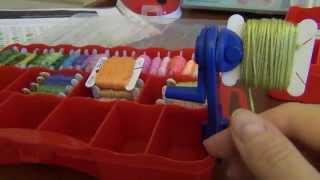 getlinkyoutube.com-Как перемотать нитки мулине на бобинки  Рукодельный урок 1