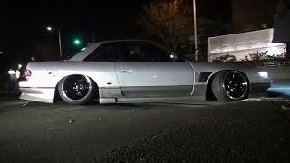 getlinkyoutube.com-【搬出動画②】 お台場ドリフト超天国 ドリ車 シャコタン 車高短 Lowered exhaust low car