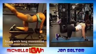 getlinkyoutube.com-Jen Selter Vs Michelle Lewin  Workout Battle Video , jen selter workout