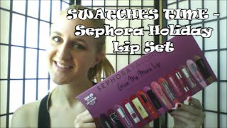 getlinkyoutube.com-Holiday 2015 Lip Swatches - Sephora Favorites Give Me More Lip