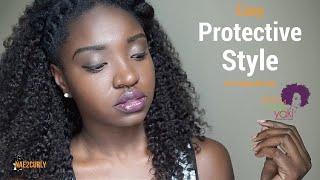 getlinkyoutube.com-Easy Protective Style with KinkyCurlyYaki Clip-ins