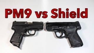 getlinkyoutube.com-Smith & Wesson M&P Shield vs Kahr PM9