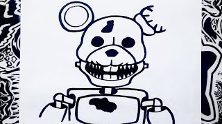 getlinkyoutube.com-Como dibujar a rat de five nights at candy's | how to draw a rat step by step