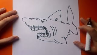 getlinkyoutube.com-Como dibujar un tiburon paso a paso 3 | How to draw a shark 3