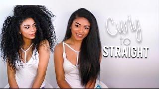 getlinkyoutube.com-Curly to Straight: Length Check   jasmeannnn