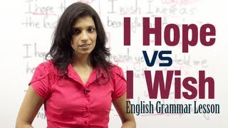 getlinkyoutube.com-Difference between ' I Hope ' and ' I Wish ' - English Grammar lesson