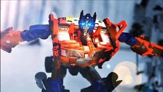 getlinkyoutube.com-Transformers Stop motion - Prime VS Menasor 柯博文VS飛天虎