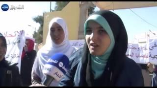 "getlinkyoutube.com-الأغواط: احتجاج مقيمات الاقامة الجامعية ""الأخوات بج"""