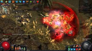 getlinkyoutube.com-Path of Exile: Crit Binos 76 Arid Lake Clear (Enfeeble, phys reduction & fracture)