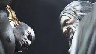 getlinkyoutube.com-Resident Evil 4 UHD [GOW3 mod] - Kratos VS. Zeus Cutscene