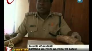 Vipande 12 Vya Meno Ya Tembo Vyakamatwa Mkoani Katavi