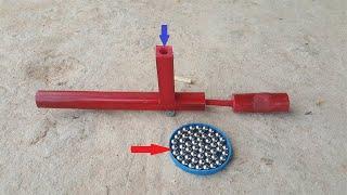How to Make a Bamboo Gun that shoots Fruit bullets (Kamplok Bong) | Khmer Traditional