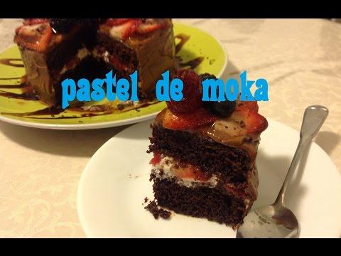 Receta de pastel de moka envinado y relleno de fresas con crema   repostreria pasteles  angycrisjavi