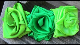 getlinkyoutube.com-Rosas Magica de cetim Passo a passo -satin ribbon rose