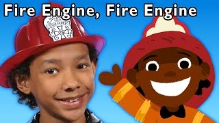 getlinkyoutube.com-Fire Engine, Fire Engine and More | Baby Songs from Mother Goose Club!