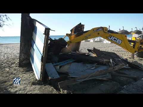Acto vandálico contra los aseos de la playa de La Noria