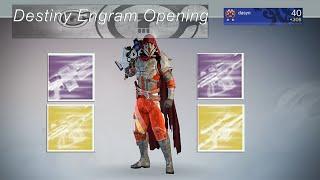 getlinkyoutube.com-Destiny Engram Farming: Decrypting BUTT LOAD of Engrams :)