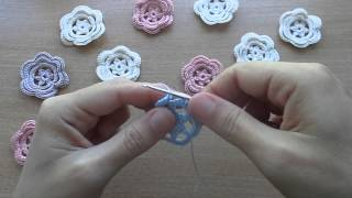 getlinkyoutube.com-Уроки вязания.Цветок вязаный крючком.