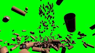 bullets falling shells  3d model  animation  s01r03 green screen matrix style