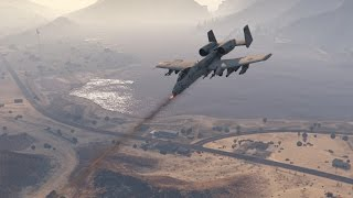 getlinkyoutube.com-Grand Theft Auto 5 - A-10 Thunderbolt (WARTHOG) Jet mod GTA 5