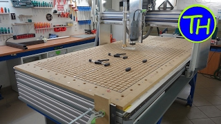 getlinkyoutube.com-Homemade CNC Router with built-in vacuum table and holes like the Festool MFT table