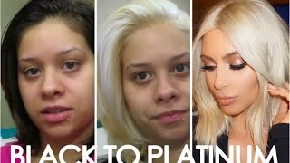 getlinkyoutube.com-HOW TO Get Kim Kardashians Blonde hair! Easy steps from black to platinum/Blonde hair!!!