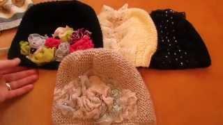 getlinkyoutube.com-Как связать модные Вязанные шапочки-украшения от Ксении