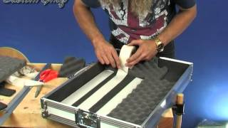 Electric Guitar Effects Pedal Board Using PedalBoots for Holding the Effects Pedals