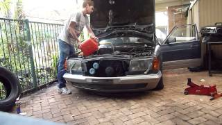 getlinkyoutube.com-Mercedes Benz w126 with full hydropneumatic suspension