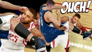 getlinkyoutube.com-NBA 2K15 Next Gen MyCareer #32 - Knocked Out By Zach LaVine?