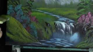 getlinkyoutube.com-Mountian Falls - Painting Lesson