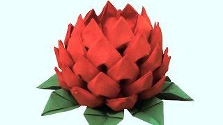 getlinkyoutube.com-Цветок из салфеток