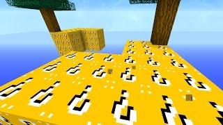 getlinkyoutube.com-Minecraft 1v1v1v1 LUCKY BLOCK SKY BLOCK WARRIORS! #2   (Minecraft Mods)