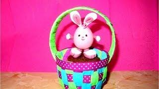 getlinkyoutube.com-Manualidades  souvenir Canastita baby  huevos de Pascua