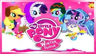 getlinkyoutube.com-💫 My Little Pony Winter Fashion Twilight Pinkie Rarity Fluttershy Rainbow & Applejack Dress Up Game