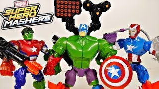 getlinkyoutube.com-Marvel Superhero Mashers Captain America Iron Patriot and Hulk Toys Review - Disney Cars Toy Club