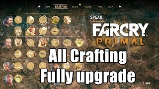 getlinkyoutube.com-Far Cry Primal All Crafting Weapons & Items Fully Upgraded Max level Showcase