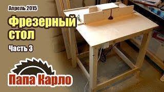 Фрезерный стол своими руками. Часть 3 - Тумба | Столярная мастерская