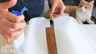 Polishing a Rusty Knife