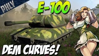 E-100 TESTING! DEM CRUVES! War Thunder Tanks Gameplay