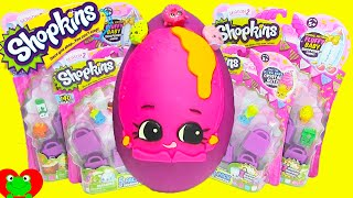 getlinkyoutube.com-Shopkins Season 2 Donna Donut Play Doh Surprise Egg with Pamela Pancake and Honeeey