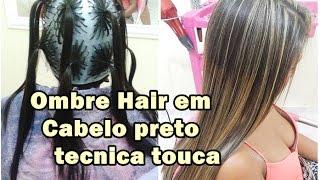 getlinkyoutube.com-Mechas Ombre hair na Touca em cabelo Preto tecnica da xuxinha