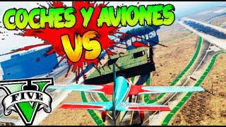 getlinkyoutube.com-COCHES Y AVIONES VS PLATAFORMA!! LA TECNICA DE TROYA LOS MATA A TODOS!! GTA 5 ONLINE Makiman