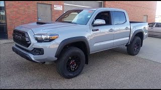 getlinkyoutube.com-2017 Toyota Tacoma Double Cab TRD Pro in Cement grey Detailed Features and Review with Exhaust sound