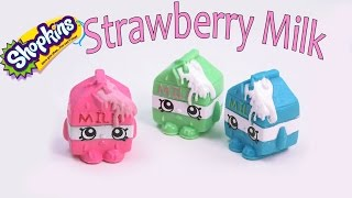 getlinkyoutube.com-Shopkins Custom Spilt Strawberry Milk DIY Inspired Painted Craft Season 1  Kawaii Toy Cookieswirlc